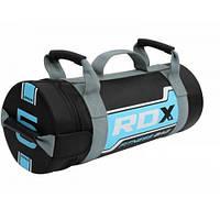 Сумка для кроссфита 5 кг из синтетической кожи RDX серый/голубой