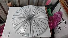 Накладной светодиодный светильник люстра LED 36W 4000K  25395-04 Промінь d395 36W серый