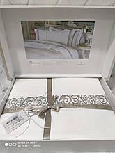 Комплект постельного белья сатин люкс с вышивкой Pepper home 200*220 Carmina