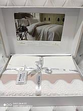 Комплект постельного белья сатин люкс Pepper home евро размер с вышивкой Lena