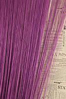 Шторы нитяные  Люкс однотонные пурпурные 205