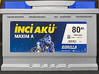 Аккумулятор Inci Aku MaximA Gorilla 80Ah/760A R+ Автомобильный (Инджи Акю) L3 080 076 013 АКБ Турция НДС