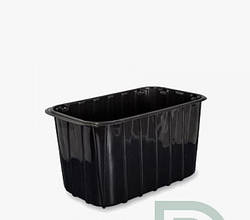 Пластиковий посуд для упаковки ягід 1 кг ПЕТ чорний