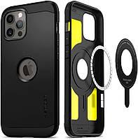 Чохол Spigen для iPhone 12 Pro Max - Tough Armor (Mag Safe), Black (ACS02619)