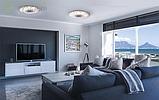 Накладной светодиодный светильник люстра LED 36W 4000K  25395-04 Промінь d395 36W серый, фото 6