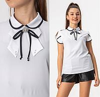 """Школьная  блуза c коротким рукавом для девочки """"Весна"""""""