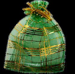 Мішечок для біжутерії 12х9 зелений