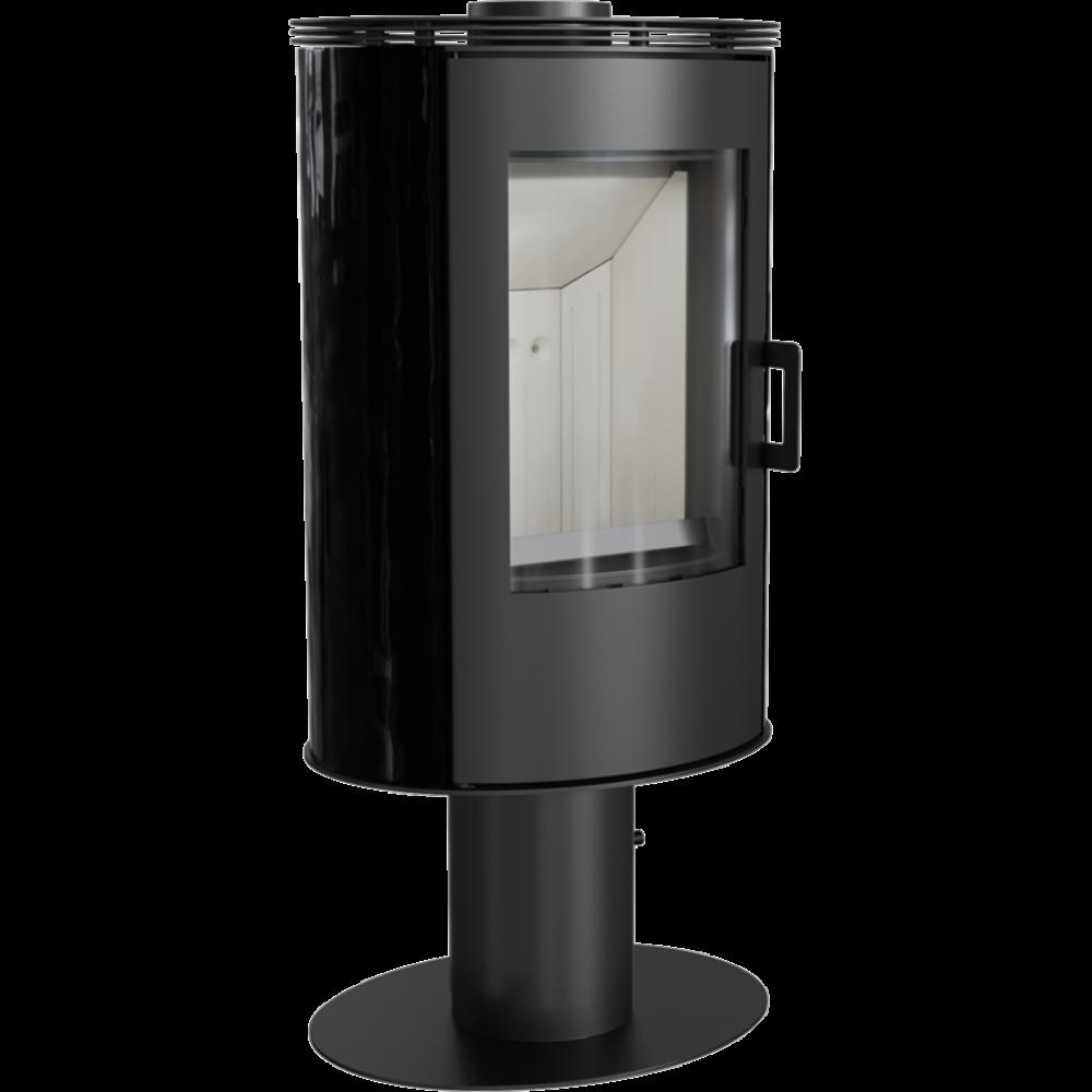 Кафельная печь-камин Kratki KOZA AB S/N/O/DR черная