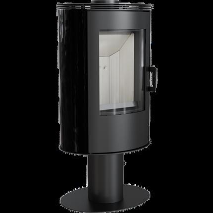 Кафельная печь-камин Kratki KOZA AB S/N/O/DR черная, фото 2