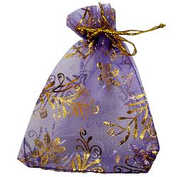 Мішечок для біжутерії 12х9 фіолетовий