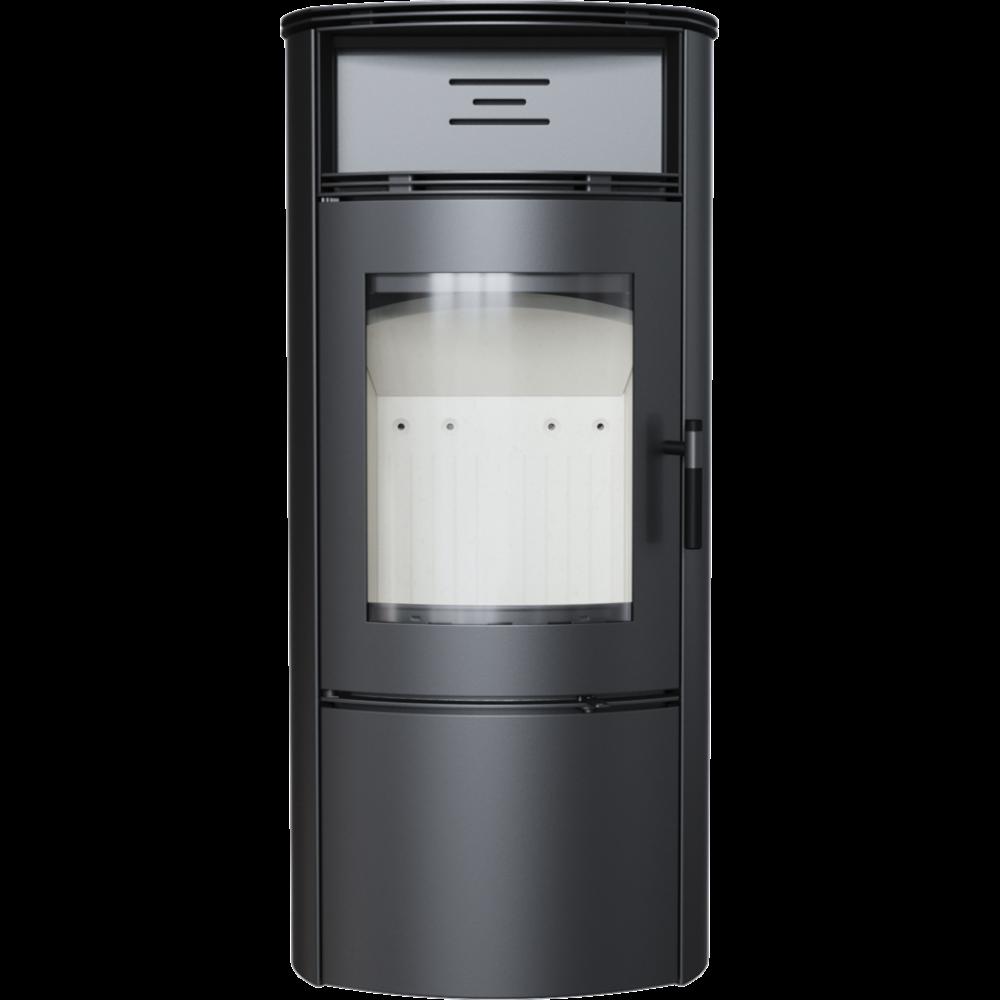Сталева камінна топка Kratki FALCON 9 W (10-14 кВт) печі чавунні опалювальні для дому та дачі