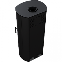 Сталева камінна топка Kratki FALCON 9 W (10-14 кВт) печі чавунні опалювальні для дому та дачі, фото 2
