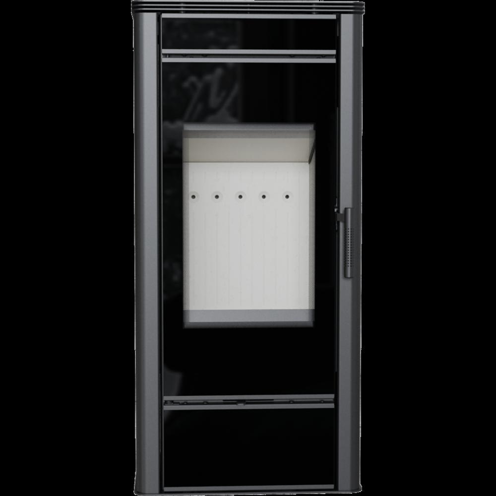 Стальная печь-камин Kratki KOZA TITAN GLASS (10-14 кВт) печи чугунные отопительные для дома и дачи