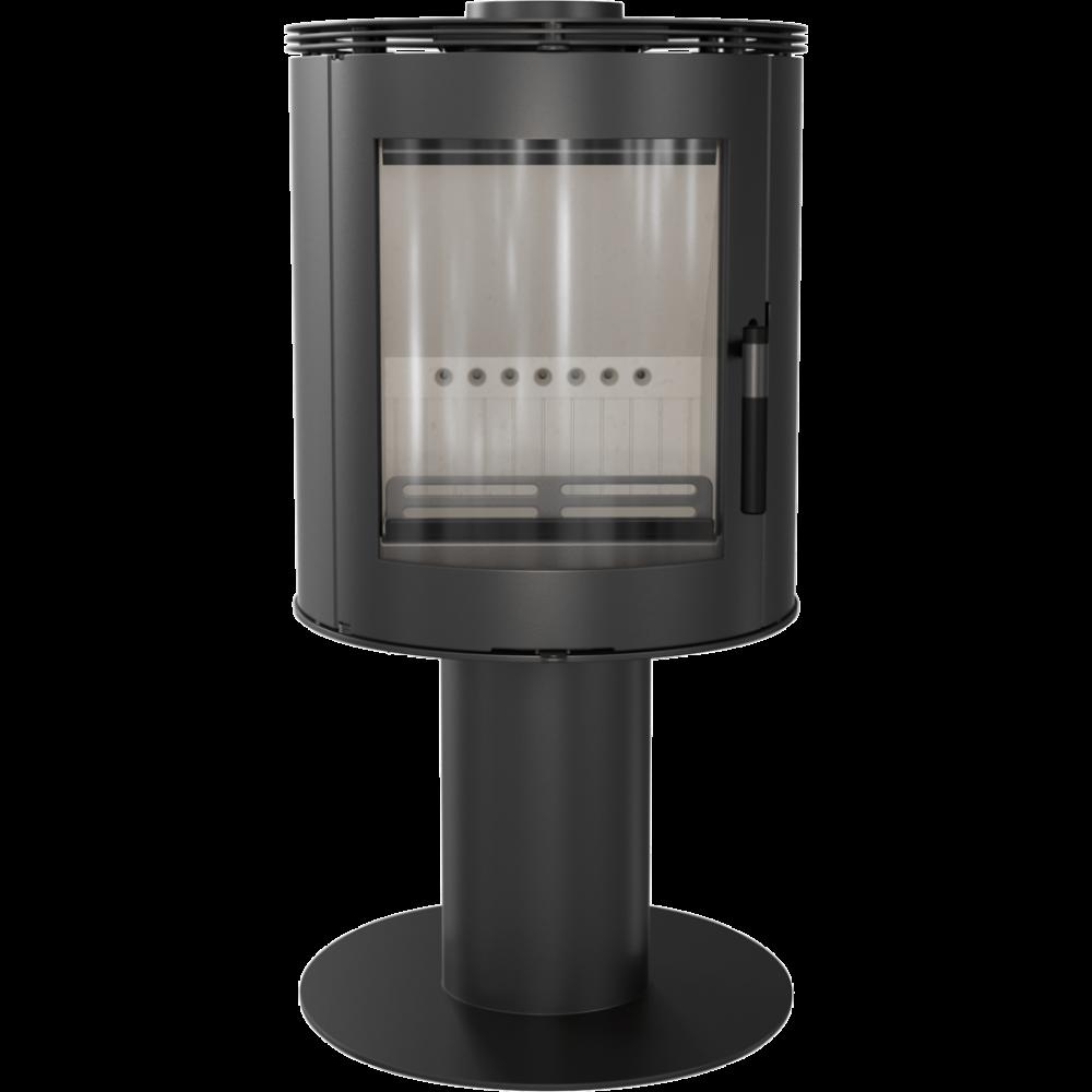 Стальная печь-камин Kratki KOZA ORBIT (3-8 кВт) печи стальная отопительные для дома и дачи