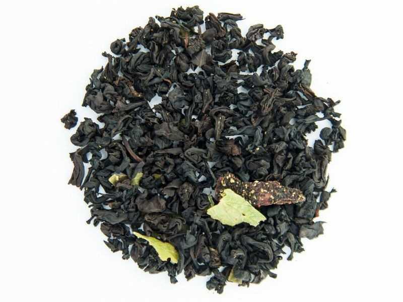 Чай Teahouse (Тіахаус) Суниця з вершками (чорний) 250 г (Tea Teahouse Strawberries with cream (black) 250 g)