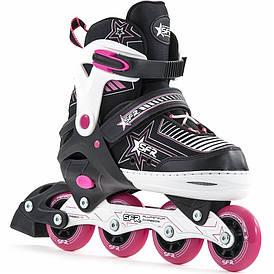 Детские роликовые коньки SFR Pulsar 30.5-34 pink