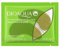 Патчі під очі зволожують і розгладжують c никотинамидами і водоростями Bioaqua Nicotinamide 1 пара