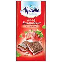 Шоколад Молочный Alpinella Альпинелла Клубничный вкус Польша 100г (22шт/1уп)