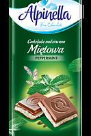 Шоколад Молочный Alpinella Альпинелла Мята Польша 100 г (22шт/1уп)