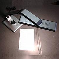 Настольная лампа светодиодная LED 10w c сенсорным выключателем серебристая LUMEN office TL 1203