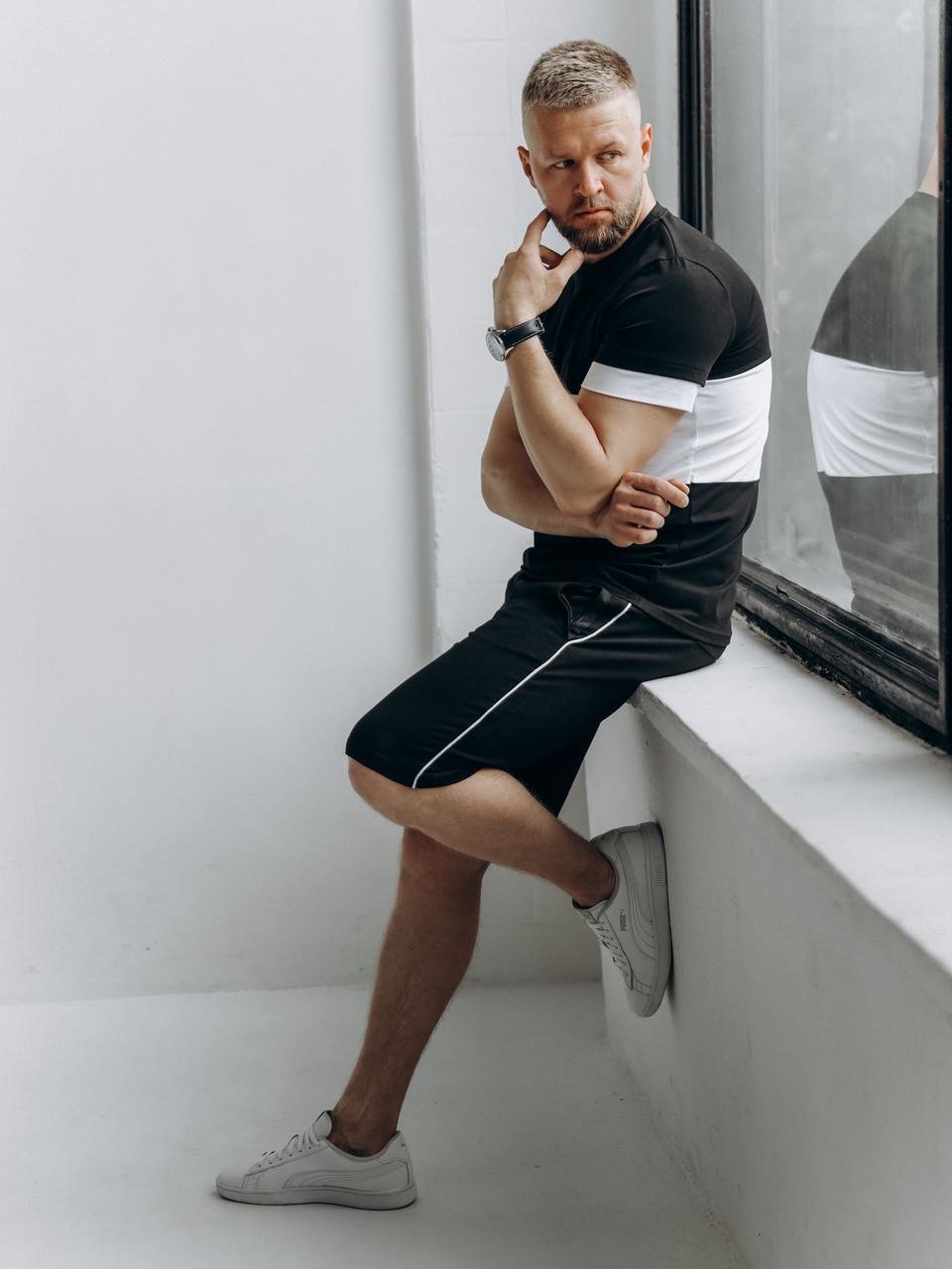Чоловічий спортивний костюм (футболка і шорти)   Літній чоловічий спортивний костюм шорти і футболка