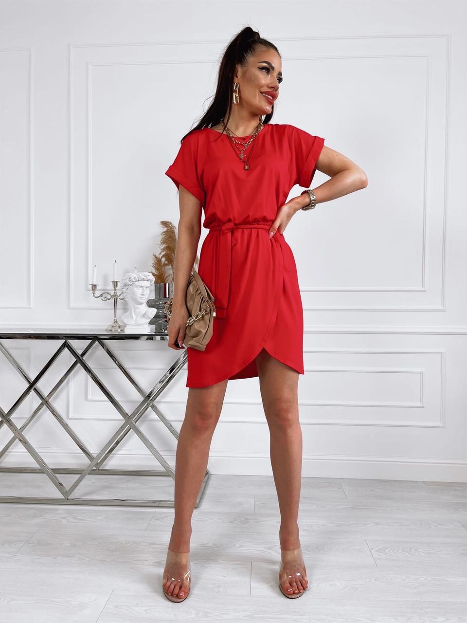Літнє жіноче плаття з віскози з спідницею на запах