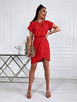 Літнє жіноче плаття з віскози з спідницею на запах, фото 1