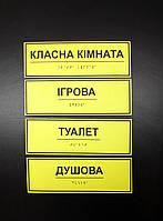 Тактильна табличка кабинетная шрифт Брайля с вашими надписями