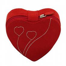 """Подарункова шкатулка для зберігання жіночих годинників та прикрас із замші """"Серце"""""""