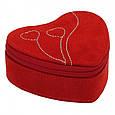 """Подарункова шкатулка для зберігання жіночих годинників та прикрас із замші """"Серце"""", фото 5"""