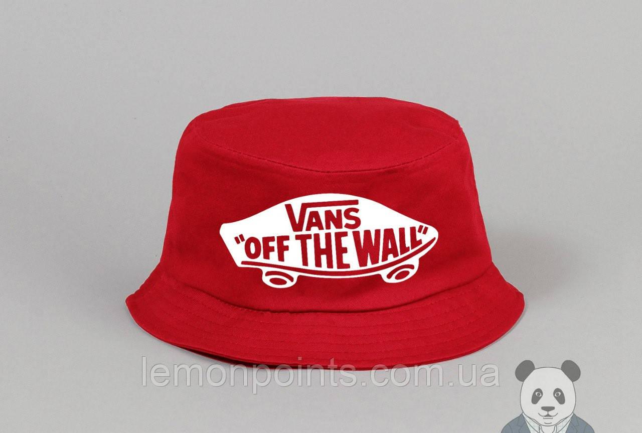 Панамка Vans  летняя хлопковая  красная