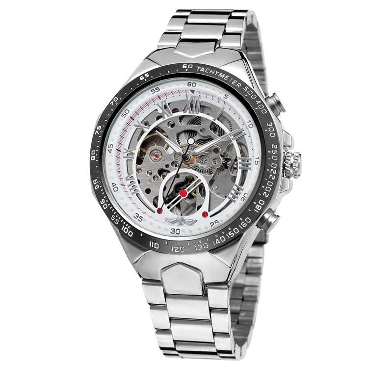 Winner 8067 Silver-Black-White Red Cristal