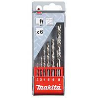 Набір свердел по металу HSS-G Makita 6 шт (D-57196)