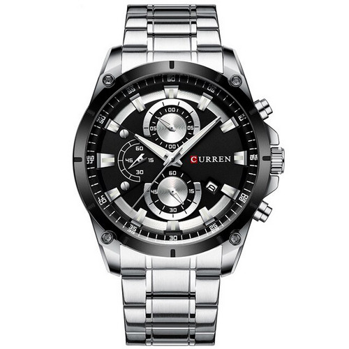 Curren 8360 Silver-Black