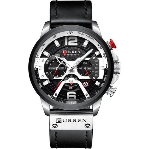 Curren 8329 Black-Silver
