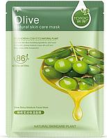 Тканинна маска для обличчя з оливою поживна Hchana Olive Natural Skin Care Mask