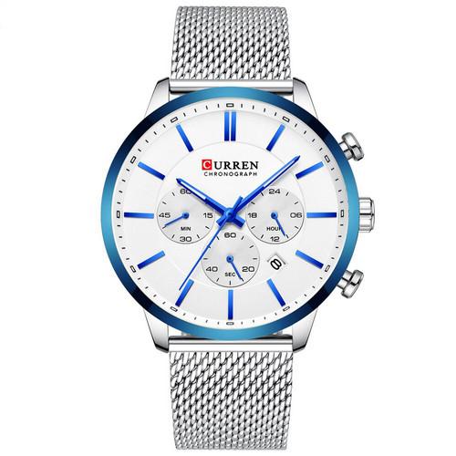 Curren 8340 Silver-Blue