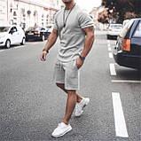 Мужской стильный легкий удобный летний спортивный костюм шорты и футболка много цветов, фото 3