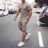 Мужской стильный легкий удобный летний спортивный костюм шорты и футболка много цветов, фото 2