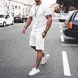 Мужской стильный легкий удобный летний спортивный костюм шорты и футболка много цветов, фото 4