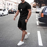 Мужской стильный легкий удобный летний спортивный костюм шорты и футболка много цветов, фото 5
