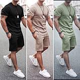 Мужской стильный легкий удобный летний спортивный костюм шорты и футболка много цветов, фото 6