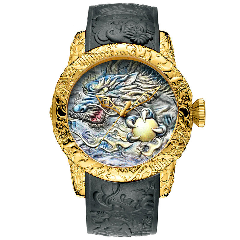 Megalith 8041MB Gray-Gold Dragon