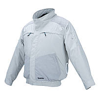 Акумуляторна куртка з вентиляцією і плечовими накладками Makita DFJ 405 ZŁ