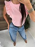 Річна блуза жіноча з мереживними оборками на плечах (р. 42, 44) 8113489, фото 6