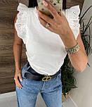 Річна блуза жіноча з мереживними оборками на плечах (р. 42, 44) 8113489, фото 4