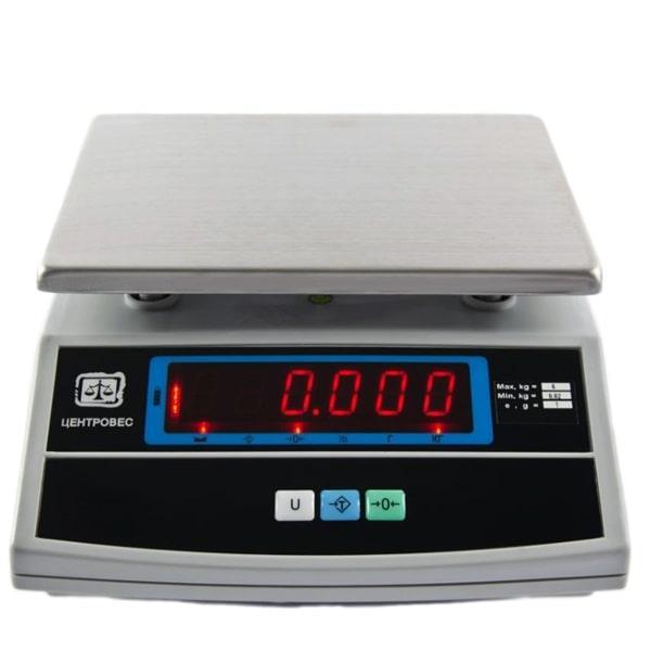 Ваги фасувальні електронні ВТЕ-Центровес-6-Т3-ДВ (6 кг)