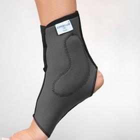 Бандаж неопреновый на голеностопный сустав с силиконовыми вкладками - Ersamed REF-402
