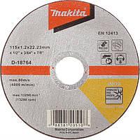 Отрезной диск по нержавейке плоский Makita 115 мм (D-18764)
