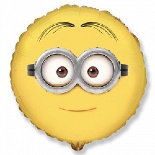 Фольгированный шар Миньоны круг 46см